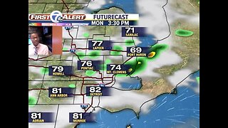 A few showers possible Sunday and Monday