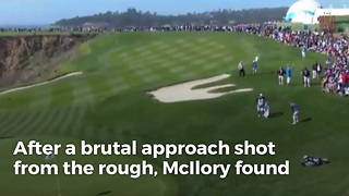 Rory McIlroy Saves Par With Incredible Chip
