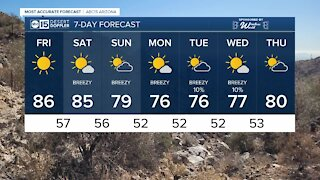 Gorgeous Friday and warm weekend ahead