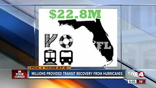 Feds send $22 million to Florida's public transit agencies impacted by last year's hurricanes - Video