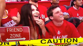 Rockets Fan Gets the WORST Rejection of the Game During Kiss Cam - Video