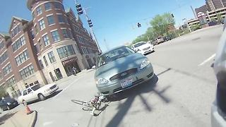 Bike collision on MLK in Clifton caught on camera - Video
