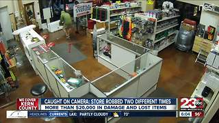Caught on camera: store robbed two times - Video