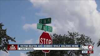 Victim beaten and robbed while walking home