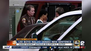 Maryland judge denies DC sniper Malvo's bid for new sentence - Video