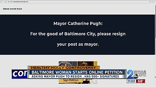 Petition calls for Mayor Catherine Pugh's resignation