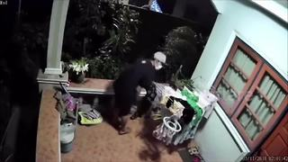 Serial underwear thief caught on CCTV - Video