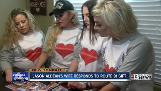 Jason Aldean's wife responds to Route 91 gift - Video