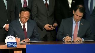 Walker, Foxconn leader sign plant contract - Video