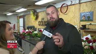 Valentines day at Green Bay Floral and Greenhouse - Video