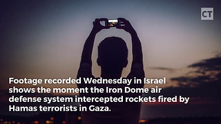 Video Capture Israel's Iron Dome Shooting Down Rockets - Video