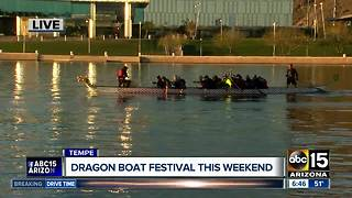 Dragon Boat Festival kicking off at Tempe Town Lake - Video