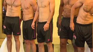 Shirtless Lights FC players unveil team shorts - Video