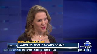 Warning about e-card scams