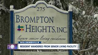 Resident wandered from Williamsville assisted living center, state investigating - Video