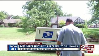Post office sends pictures of mail to cell phones