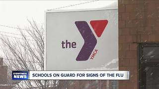 YMCA trying to prevent the spread of flu germs - Video