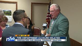 Medina fire department closure delayed by lawsuit - Video