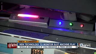New technology determines free drinks during slot machine play - Video