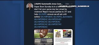LVMPD urges people to avoid violence at Super Bowl parties