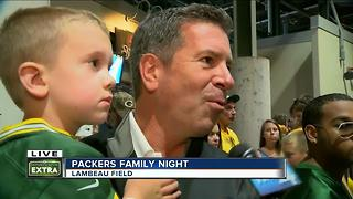Fans evacauted from Lambeau Field bowl due to storms - Video