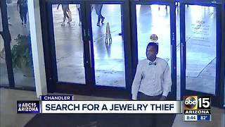 Chandler police searching for man who stole diamond worth $16K - Video