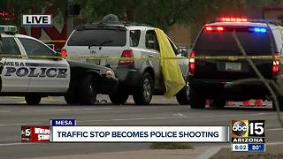 Suspected impaired driver shot by Mesa officer