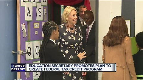 Betsy DeVos visits charter school in Detroit, local teachers respond