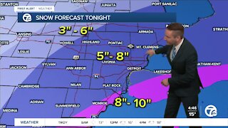 Metro Detroit forecast: Winter Weather Advisory until 12pm Tuesday
