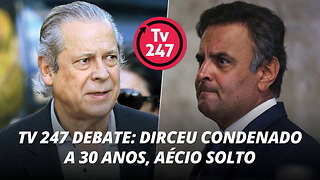 TV 247 debate: Dirceu condenado a 30 anos, Aécio solto - Video