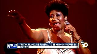 Aretha Franklin's funeral to be held on August 31, Detroit