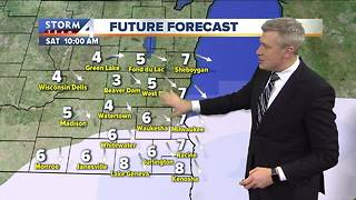 Another round of light snow possible Friday night - Video