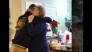 Tears of Joy as Mom Gets Christmas Surprise From Marine Son