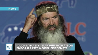 'Duck Dynasty' Star Phil Robertson Endorses Roy Moore For Senate - Video