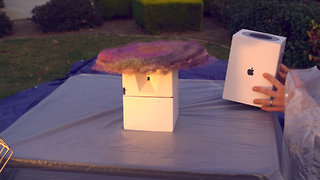 Fake Package Explodes with Glitter Bomb, Fart Spray Combo to Catch Porch Thieves