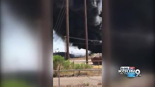 Crews battling massive commercial fire in Casa Grande - Video