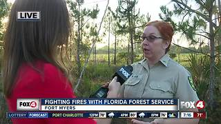 Fighting fires with the Florida Forest Service - 7am live report - Video