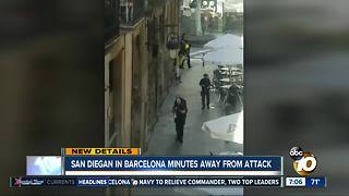 San Diegan in Barcelona minutes away from attack - Video