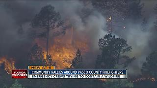 Community rallies around Pasco Co. firefighters - Video