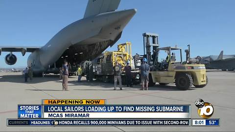 San Diego based Sailors deploying to Argentina