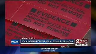 Local woman pioneers sexual assault legislation - Video