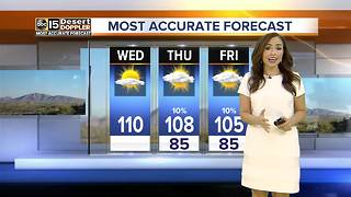 Wednesday marks the hottest day of the week with a high of 110 - Video