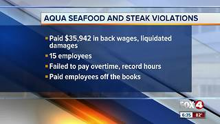 Aqua Seafood and Steak pays back wages for overtime violations