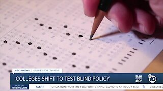Colleges shift to test blind policy