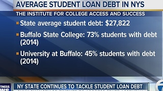 SUNY Chancellor to meet with in Albany to discuss student loan debt in NYS - Video