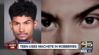 PD: Victims threatened with machete during Phoenix robbery - Video