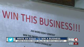 Largo hydroponics business owner uses essay contest to give away shop - Video