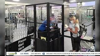New barriers installed at McCarran Airport security checkpoints