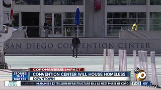 Convention Center will house homeless