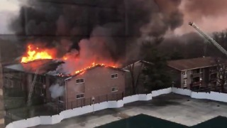 Fast-Moving Fire Rips Through DC Suburb Apartment Complex - Video
